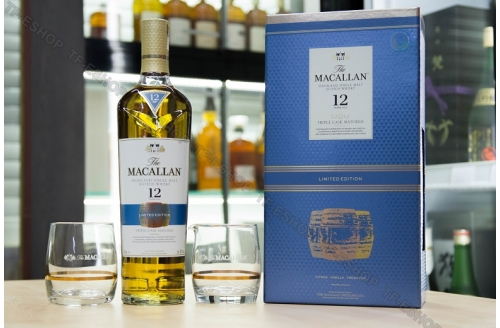 麥卡倫 Macallan Fine Oak 12 Year Triple Cask 700ml (2018/19) Limited Edition(連杯套裝)
